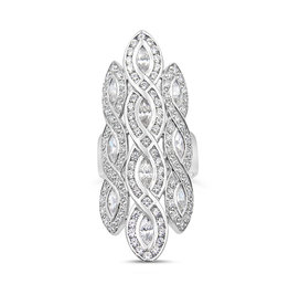 Elini 18kt white gold ring with zirconia