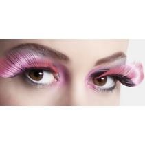 Nepwimpers Flamboyant Neon Roze/Zwart 2 stuks