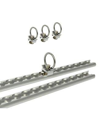 Bindrails set aluminium 2x60cm 6-delig