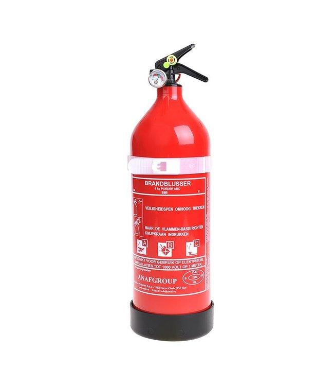 Brandblusser 2 kg + Manometer