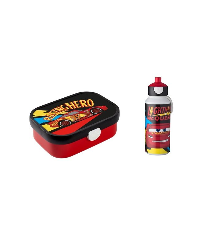 CARS GO Lunchset Pop up Drinklfles 400ml + Lunchbox