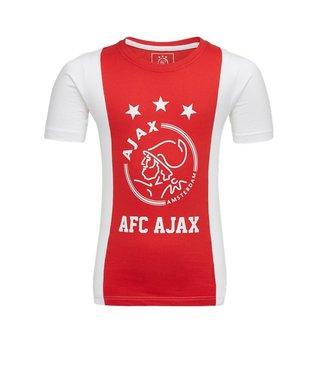 AJAX T-Shirt Rood Wit Logo M