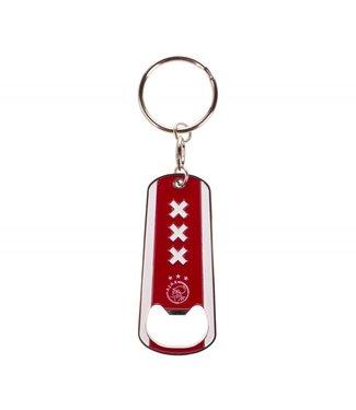 AJAX Sleutelhanger opener Wit rood logo