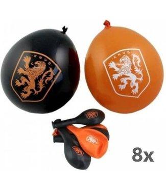 HOLLAND Oranje KNVB Ballonnen 8 stuks