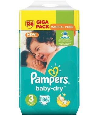 Pampers Baby Dry 3 - 136 stuks