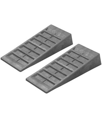 Oprijblokken 90 mm grijs set van 2 stuks