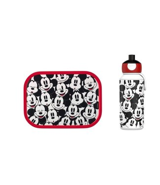 MICKY MOUSE Lunchset Pop up Drinkfles + Broodtrommel