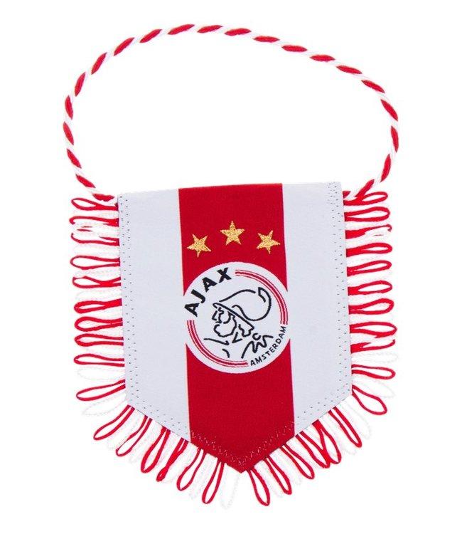 AJAX Banier wit rood wit logo 8x10 cm