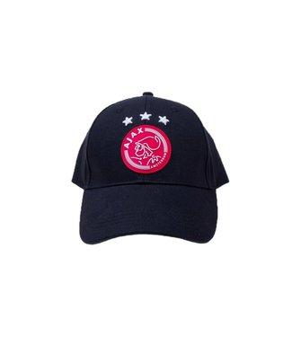 AJAX Cap Zwart met rode batch Volwassen