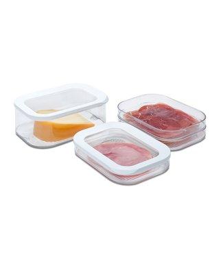 MEPAL Voordeelset Kaasdoos en Vleesbox 3 laags