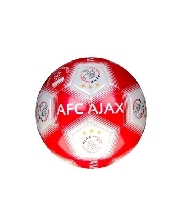 AJAX Voetbal Streep Rood Wit Maat 5