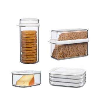 Mepal Voordeelset Knackebrood, Beschuit, Kaas& vleeswaren 4g