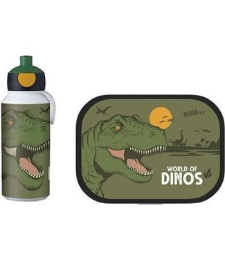 DINO Voordeelset Lunchbox & Pop-up Fles