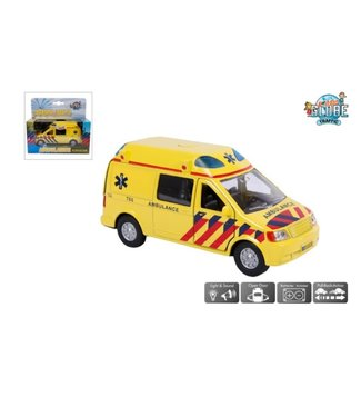 Ambulance NL die cast pb met licht en geluid 13cm