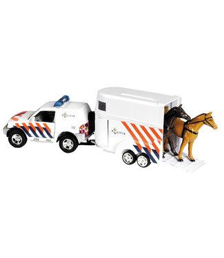 Politie met paardentrailer die cast pb 25cm
