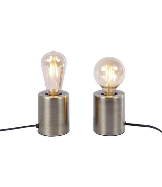 Lampen - Fitting metaal dia8x10cm messing