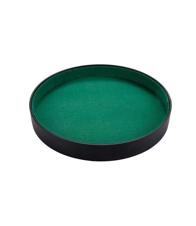 Dobbelpiste kunstleder met groen vilt,  26 cm, kleur zwart