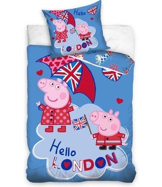 Peppa pig dekbedovertrek Hello London 140x200cm (144)