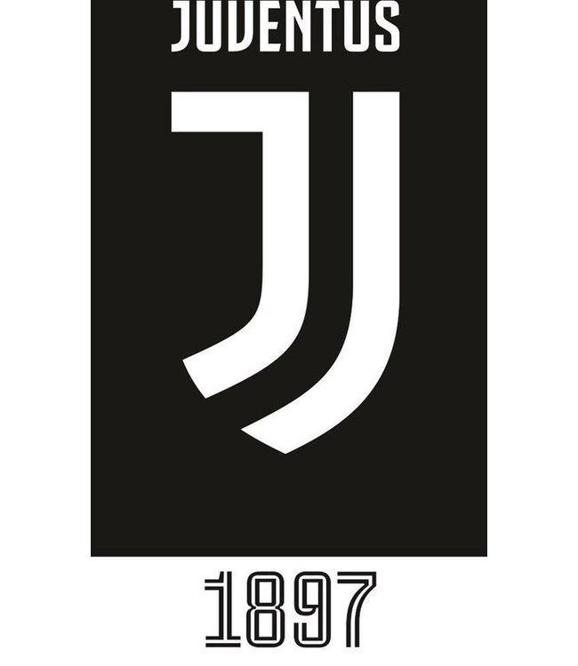 Juventus Strandhanddoek 70 X 140 Cm Katoen Zwart/wt (981)