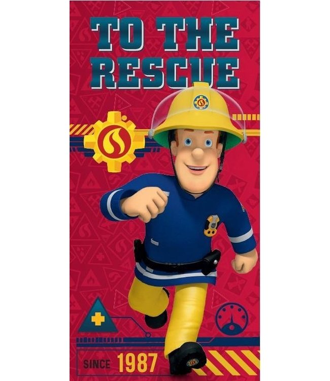 1 TOYS Strandlaken Brandweerman Sam handdoeken