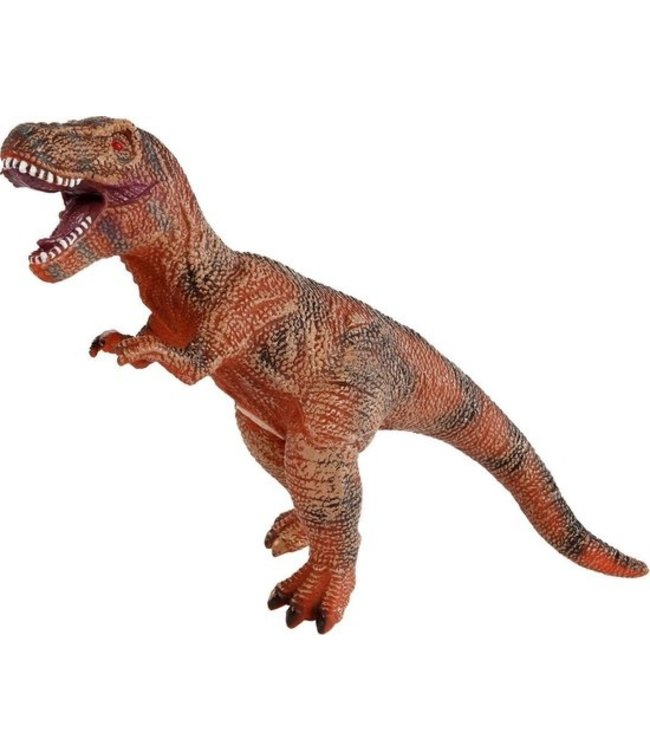 Dinoworld Dinosaurus T-rex Jongens 41 Cm Rubber Bruin