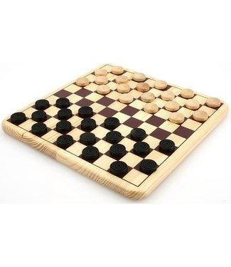 Damspel Longfield Games Houten 30x30 cm