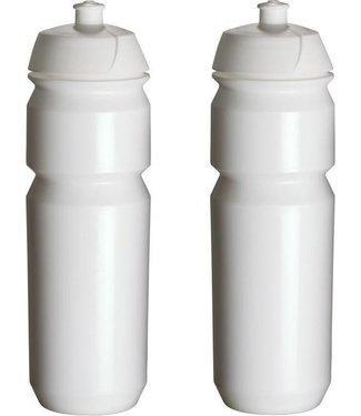 Bidon 2x Tacx Wit met trektuit dop