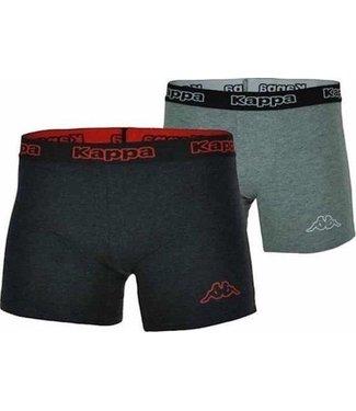 Kappa - Boxer 2 Pack - Antreciet - Rood / Midgrey - Heren