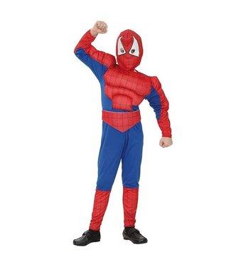 Spiderman pak gespierd 4-6 jr [110-120cm]