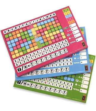 Scoreblokken Keer op Keer drie stuks Level 5, 6 en 7 - Dobbl