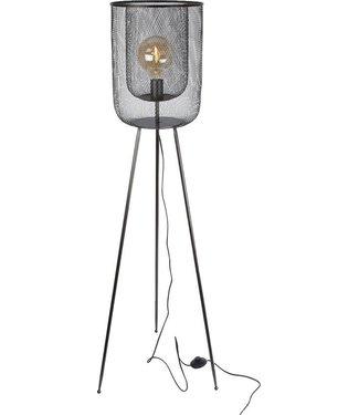 """Lamp """"Rick""""  staand zwart metaal 140x30x30cm"""