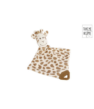 Knuffeldoekje Giraffe 33 X 33 Cm Pluche Bruin Take Me Home