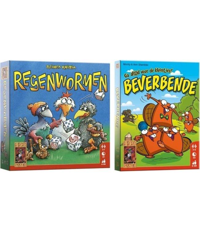 Spellenbundel - Dobbelspel - 2 Stuks - Regenwormen & Beverbende