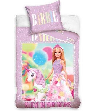 Barbie & Eenhoorn Dekbedovertrek 140 X 200 ( 709)