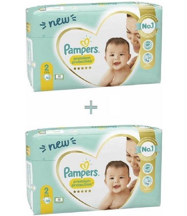 Pampers Premium Protection Luiers - Maat 2 - 80 stuks (2x40)