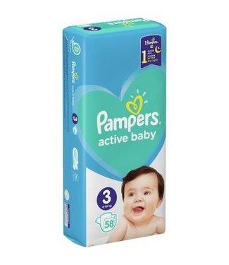 Pampers Luiers - Active Baby Dry - 58 stuks - Maat 3