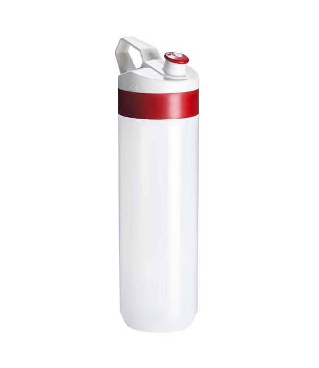 Tacx Bidon Fuse Rood Wit 450 ml Transparant