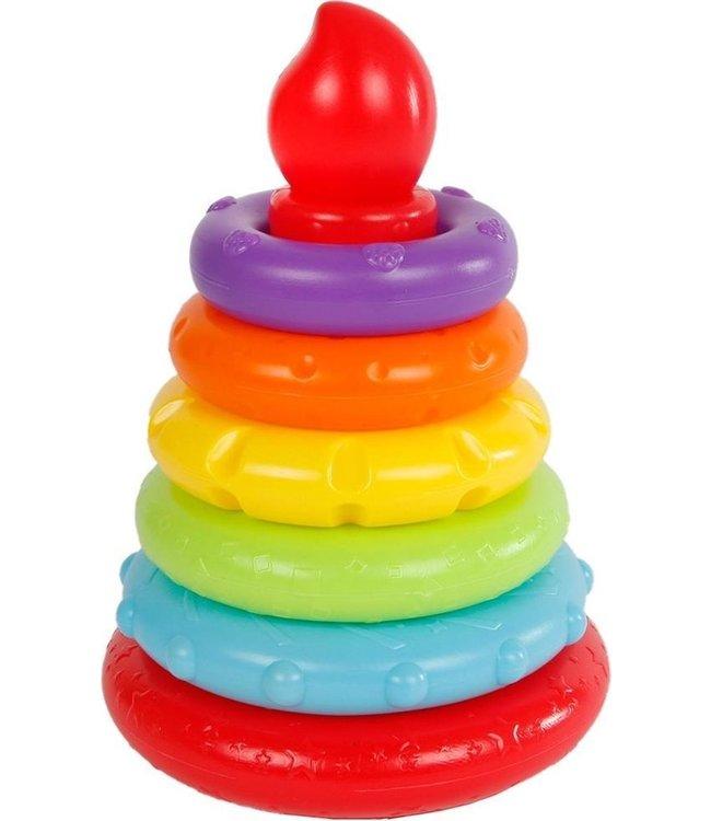 Mini Club ringpyramide 6dlg 13,5x13,5x20cm