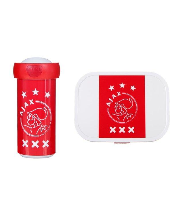 AJAX Voordeelset Lunchbox & Schoolbeker