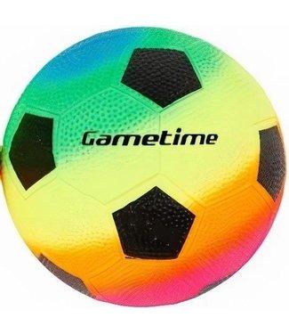 Voetbal rainbow 23cm 2ass