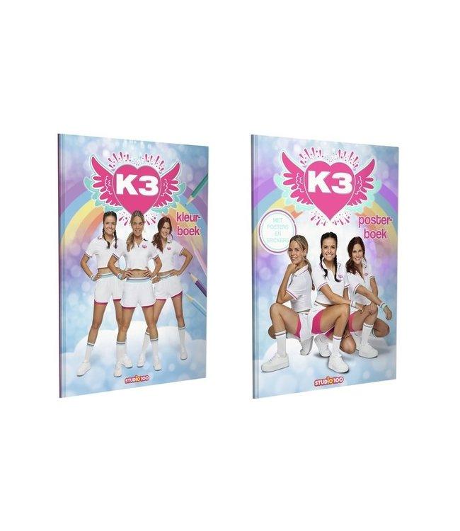 K3 Voordeelset Kleurboek & Posterboek - Studio 100 - Dromen