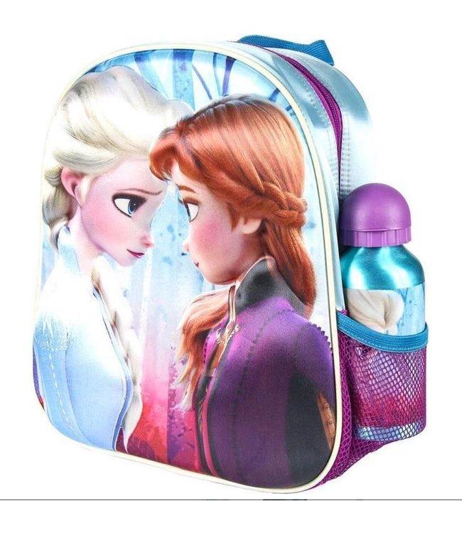 Frozen Rugzak Elsa en Anna 3D incl. drinkfles