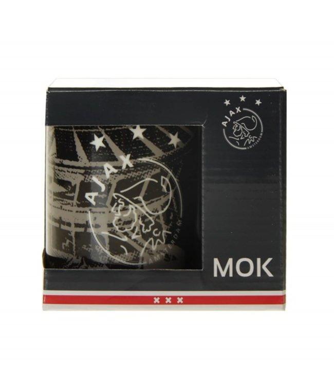 AJAX Mok grijs in giftbox