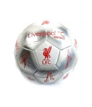 Liverpool Voetbal Zilver met Handtekeningen maat 5