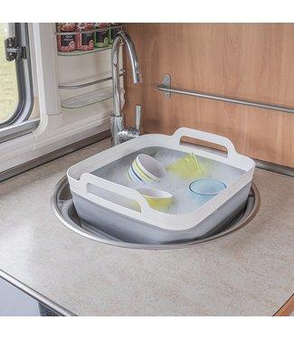 Afwasteil met afvoerstop opvouwbaar