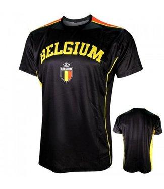 Belgie Voetbalshirt Zwart  164