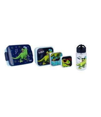 Pret Dino Pret Snackboxen 3 stuks, lunchbox  & Drinkfles