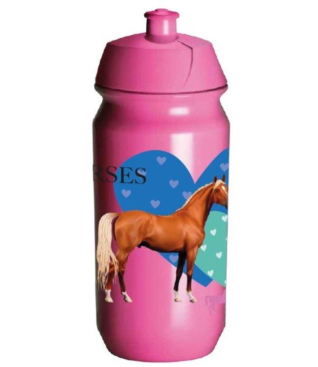 JQ JQ Paarden Bidon - Waterfles 500 ml