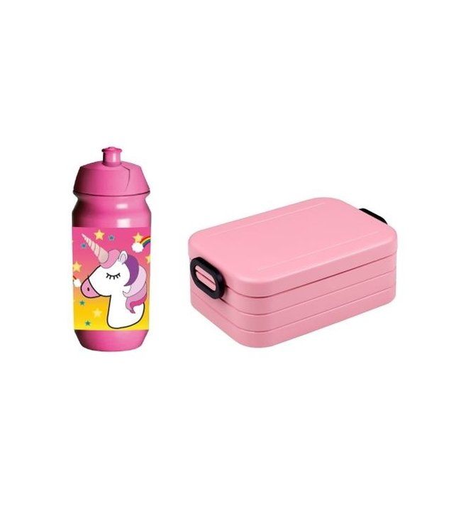 Mepal Lunchbox & JQ Bidon Unicorn Voordeelset