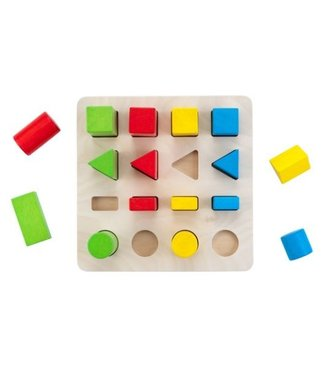 Sorteerbord geometrisch kleur/grootte